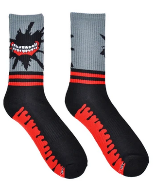 Tokyo Ghoul Mouth Athletic Crew Sock