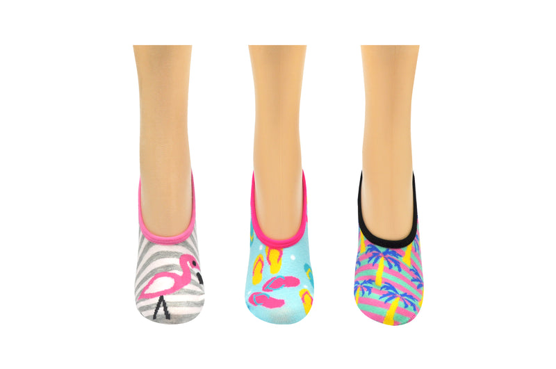 SOCK HOUSE CO. Ladies Beach 3 Pair Pack No Show Socks
