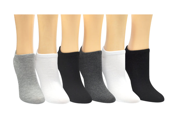 SOCK HOUSE CO. Ladies Basic 6 Pair Pack Lowcut Socks