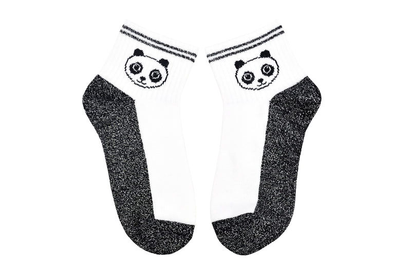 Sock House Co. Panda Lurex Shortie Sock
