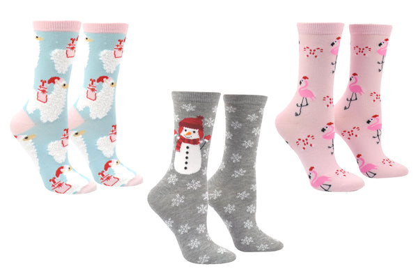 Everything Legwear Christmas 3 Pair Pack Crew Socks