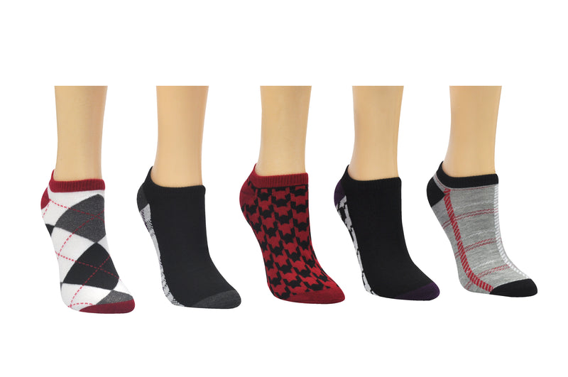 Sock House Co. Women's Plaid 5 Pair Pack Lowcut Socks