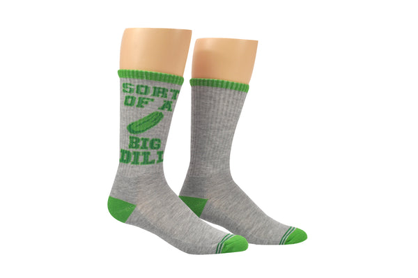Sock House Co. Men's Kind of a Big Dill Pickle Athletic Crew Sock