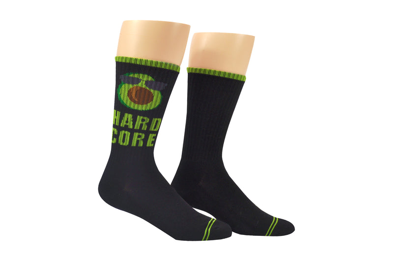 Sock House Co. Men's Hard Core Avocado Athletic Crew Sock