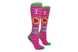 I Heart Candy Crush Stripe Knee High Socks