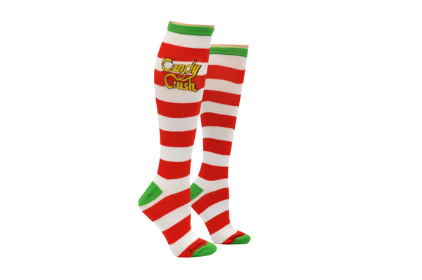 Candy Crush Rugby Knee High Socks