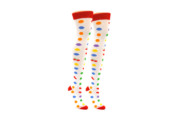 Candy Crush Allover Candy Over The Knee Socks