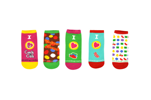 I Heart Candy 5 Pair Pack of Lowcut Socks