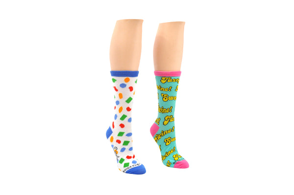 Candy Crush Candy Words 2 Pair Pack of Crew Socks