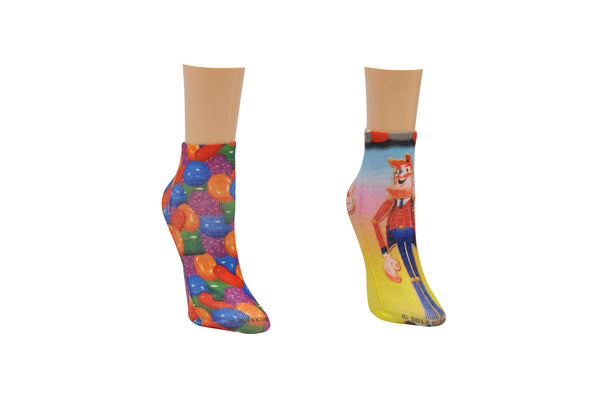 Candy Crush Toffee Printed 2 Pair Pack of Lowcut Socks