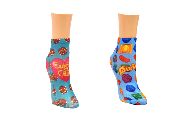 Candy Crush Divine Printed 2 Pair Pack of Lowcut Socks