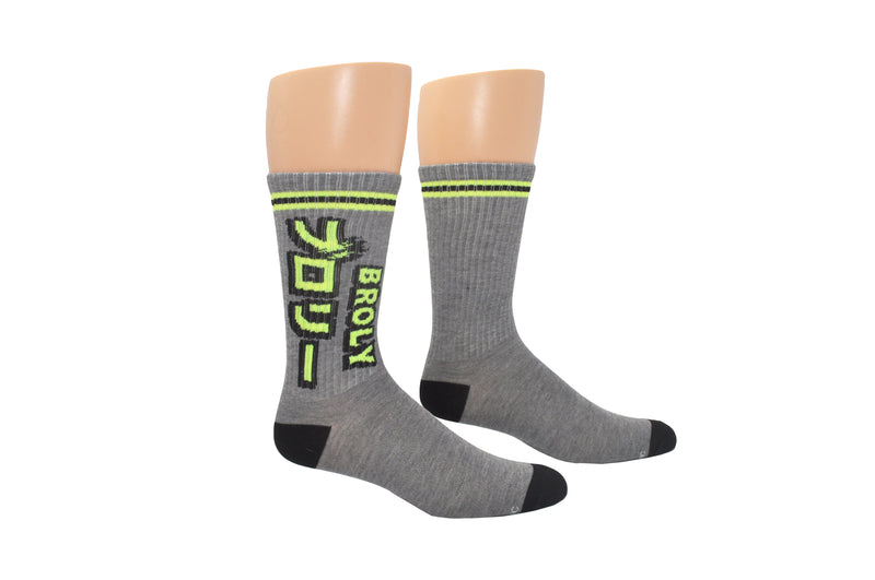 Dragon Ball Super Broly Kanji Athletic Crew Sock