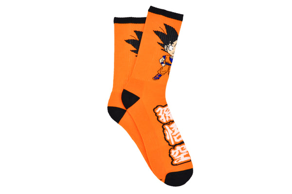 Dragon Ball Z Character Goku Chibi Athletic Crew Socks