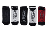 Chibi 5 Pair Pack of Lowcut Socks