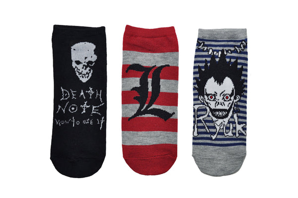 Death Note 3 Pair Pack of Lowcut Socks