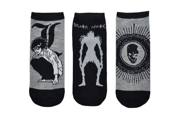 L and Ryuk 3 Pair Pack of Lowcut Socks