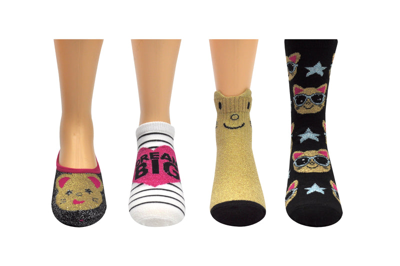 Earth 2 Jane Cat 4 Pair Pack Socks