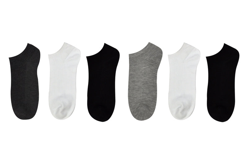Everything Legwear 6 Pair Pack Cuffless Socks