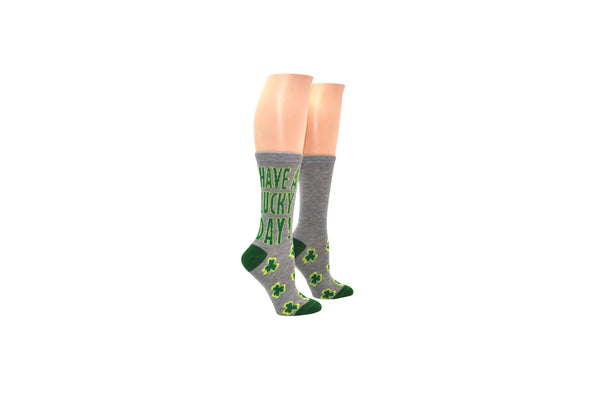Everything Legwear St. Patrick's Day 'Have a Lucky Day' Crew Sock