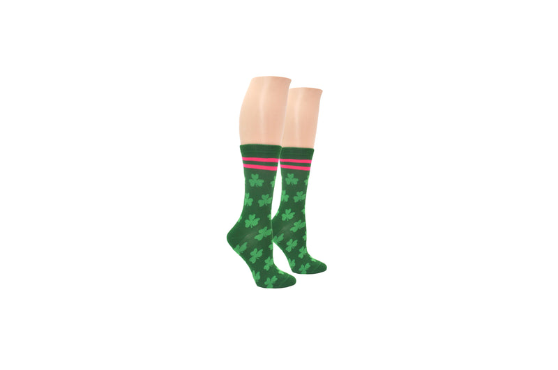 Everything Legwear St. Patrick's Day Clover Crew Sock