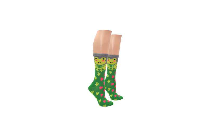Everything Legwear St. Patrick's Day Frog Crew Sock
