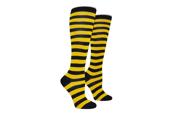 Ladies Rugby Knee-high - Black/Gold