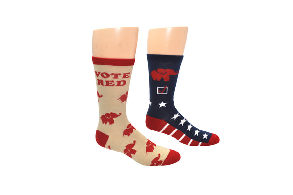 Sock House Co. Republican 2 Pair Pack Crew Socks