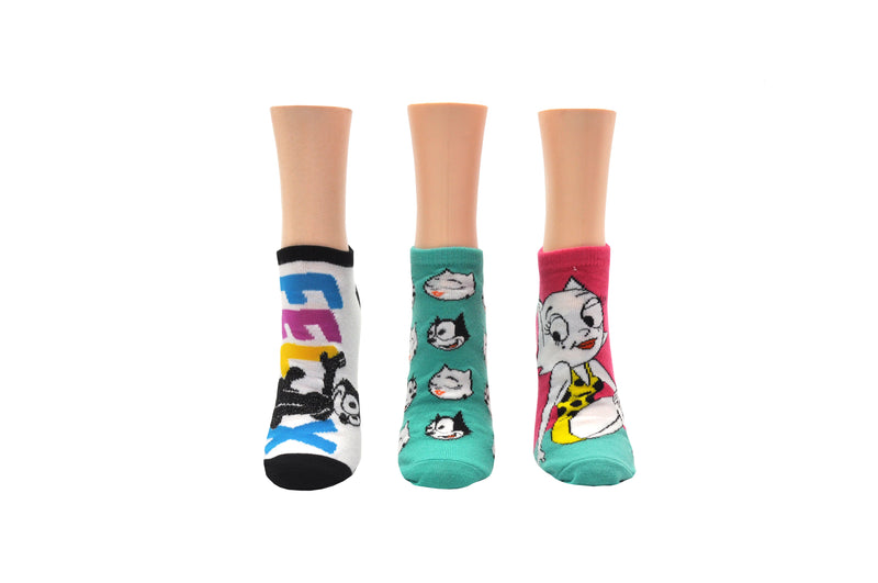 Felix & Kitty 3 Pair Pack Lowcut Socks