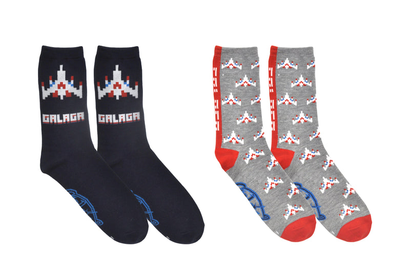 Galaga Fighter 2 Pair Pack Crew Socks