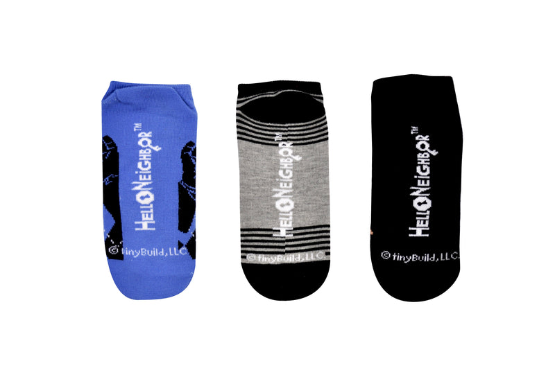 Hello Neighbor Know Your Neighbor 3 Pair Pack of Lowcut Socks