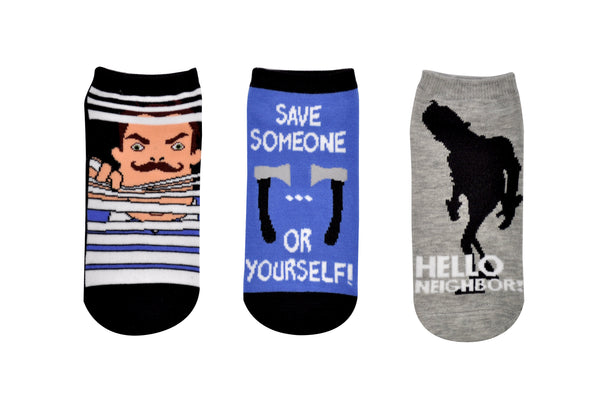 Hello Neighbor Save Yourself 3 Pair Pack Lowcut