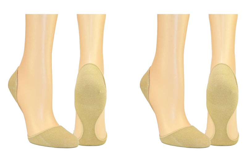 InvisaSock Closed Toe 2 Pair Pack Socks - Nude