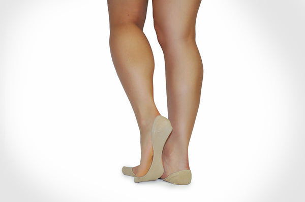 Closed Toe InvisaSock - Small/Medium - Nude Socks