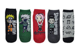 Naruto Shippuden Chibi 5 Pair Pack of Lowcut Socks