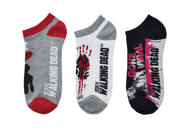 The Walking Dead I Heart Daryl Dixon 3 Pair Pack of Lowcut Socks