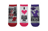 The Walking Dead Got Bit Fever Hit 3 Pair Pack of Lowcut Socks