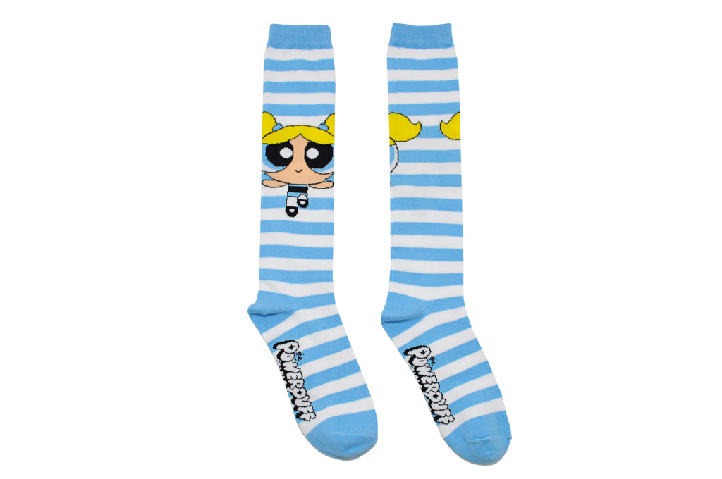 f9bf0e152 Powerpuff Girls Bubbles Rugby Knee High Socks