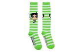 Powerpuff Girls Buttercup Rugby Knee High Socks