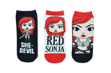Red Sonja 3 Pair Pack of Lowcut Socks
