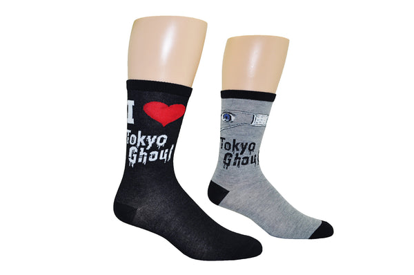 I Heart Tokyo Ghoul 2 Pair Pack Crew