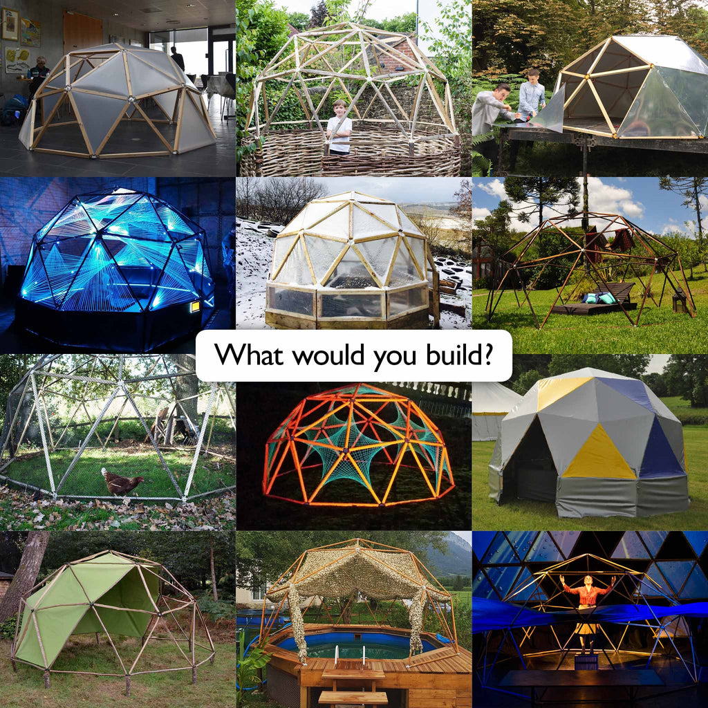 A Quick Collection Of Images Of Geodesic Domes: Build With Hubs Kits