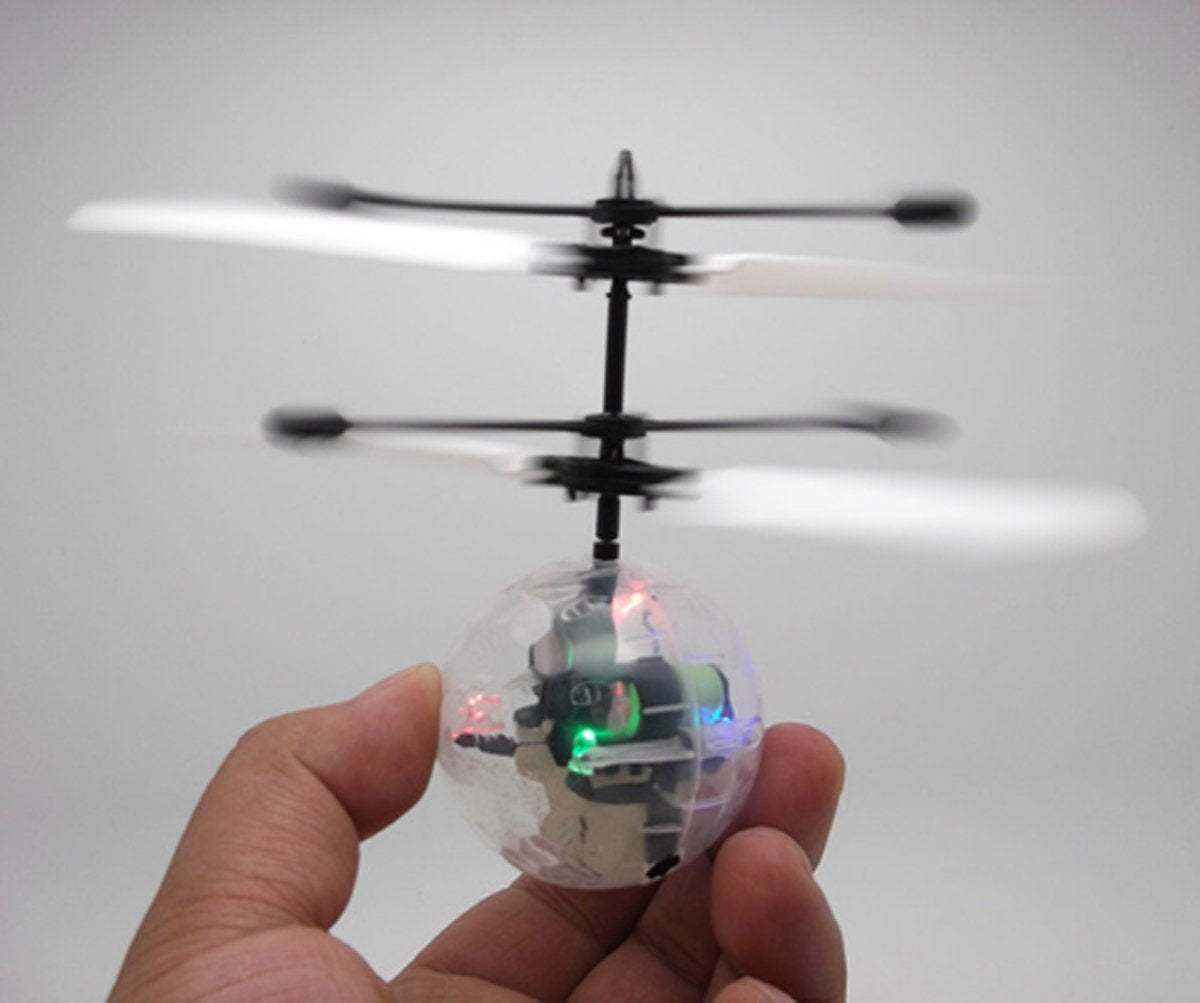 magic electric flying ball helicopter infrared sensor led light