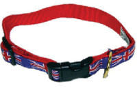 Dog Collar Union Jack Sm