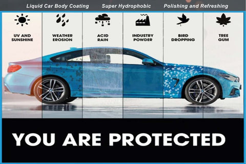 Protected body car paint coating