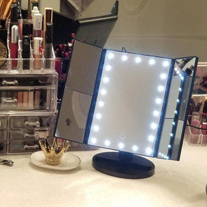 "3-Panel LED 22"" Makeup Mirror"