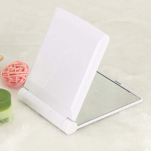 Mirror Pocket Makeup Folding With 8 LED Lights