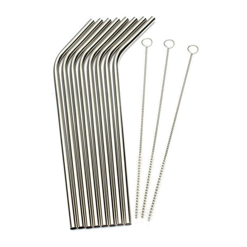 Image of Reusable Metal Drinking Straw