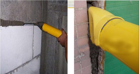 Mortar Sprayer Applicator Tool for Cement lime With 4 Nozzles