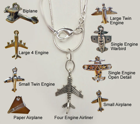 Necklace - Select Your Airplane Charm!