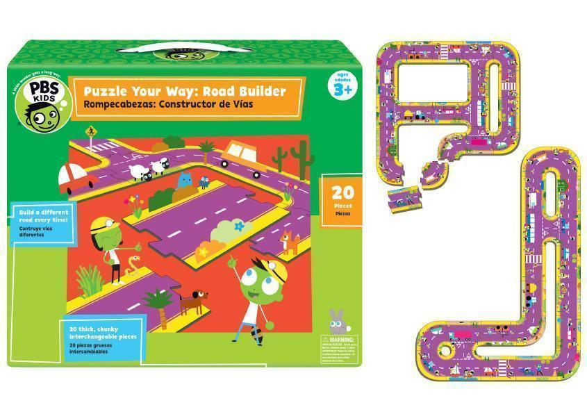 PBS Kids: Puzzle Your Way Road Builder Puzzle